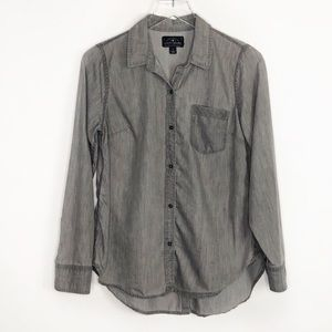 LUCKY BRAND Gray Button Up Shirt Casual Small